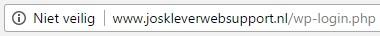 Website zonder HTTPS - Niet veilig