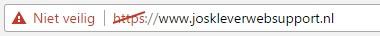 Website via HTTPS, maar zonder SSL certificaat